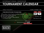International Snooker 2012 Calendar
