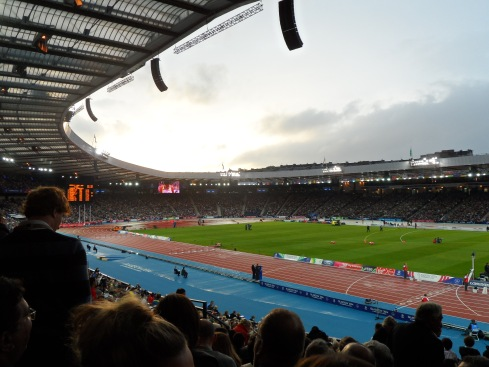 Sun breaks the sky at Hampden